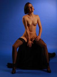 Junger Pornostar vor einer Sex-Szene